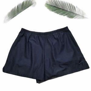 Nike Black Layered Active Women Shorts Size M